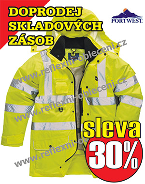 VÝPRODEJ - HI-VIS BUNDA 7V1 TRAFFIC Portwest-s427